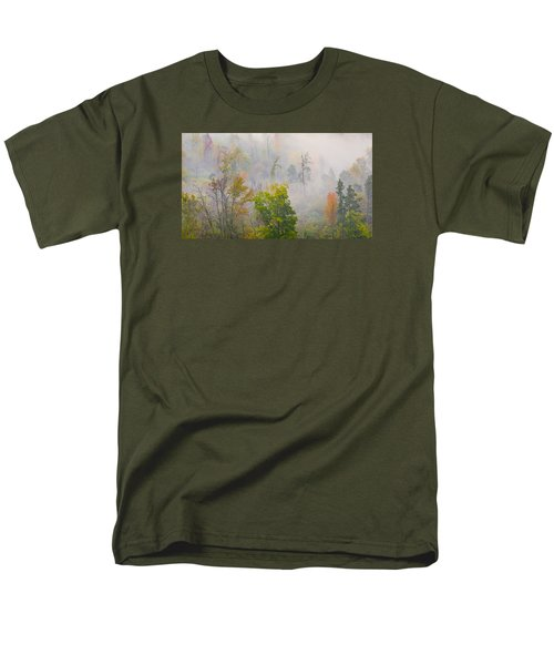 Woods From Afar Men's T-Shirt  (Regular Fit) by Wanda Krack
