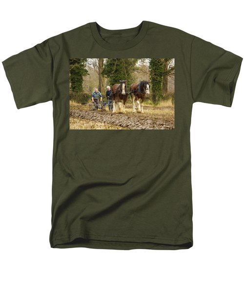 Men's T-Shirt  (Regular Fit) featuring the photograph Working Horses by Roy McPeak