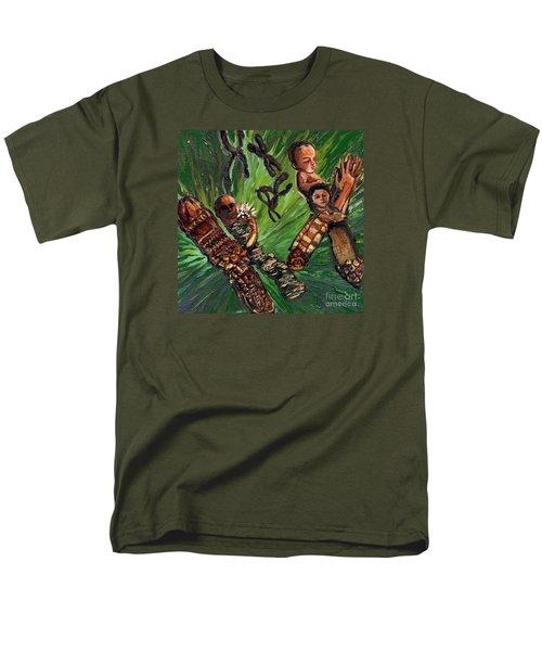 Xx Chromosomes Microbiology Landscapes Series Men's T-Shirt  (Regular Fit) by Emily McLaughlin