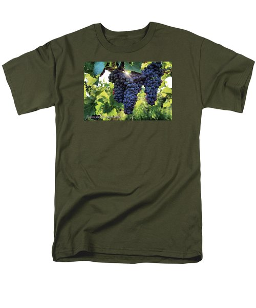 Men's T-Shirt  (Regular Fit) featuring the photograph Yakima Valley Grapes by Lynn Hopwood