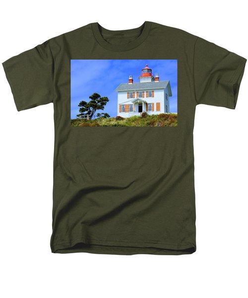 Yaquina Bay Lighthouse Men's T-Shirt  (Regular Fit) by AJ Schibig