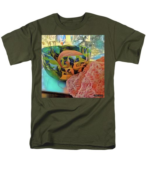 Men's T-Shirt  (Regular Fit) featuring the digital art Yarn Bowl by Ginny Schmidt