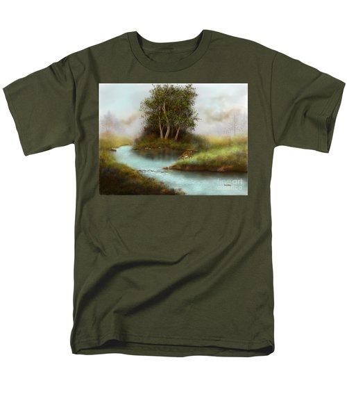 Men's T-Shirt  (Regular Fit) featuring the painting Yearling by Sena Wilson