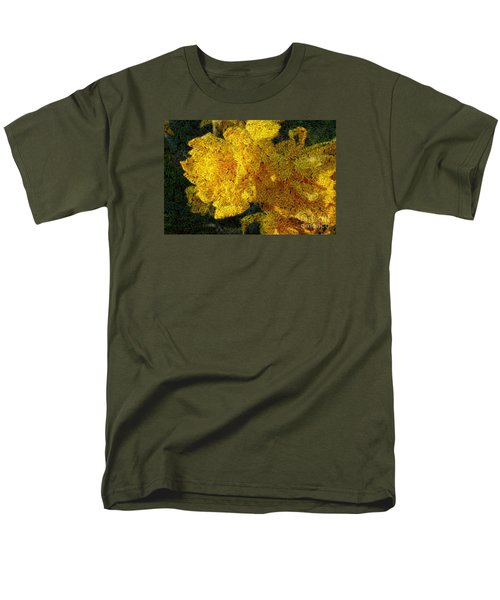 Yellow Abstraction Men's T-Shirt  (Regular Fit) by Jean Bernard Roussilhe