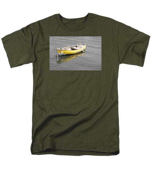 Yellow Boat Men's T-Shirt  (Regular Fit) by Helen Northcott