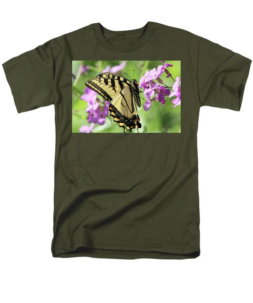 Yellow Butterfly Men's T-Shirt  (Regular Fit) by David Stasiak