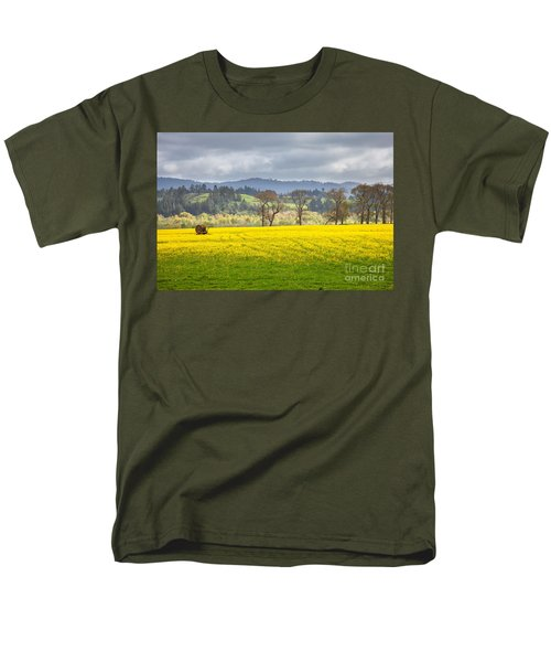 Yellow Fields Along The Eel River Men's T-Shirt  (Regular Fit) by Mark Alder