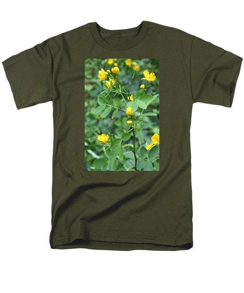 Yellow Flowers Men's T-Shirt  (Regular Fit) by Karen Nicholson