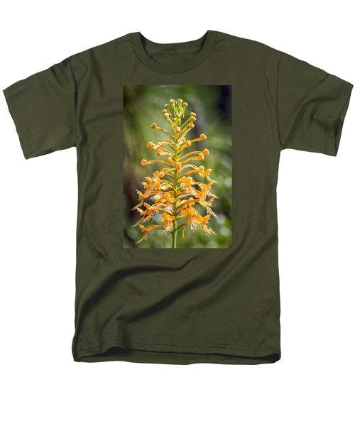 Yellow Fringed Orchid Men's T-Shirt  (Regular Fit) by Bob Decker
