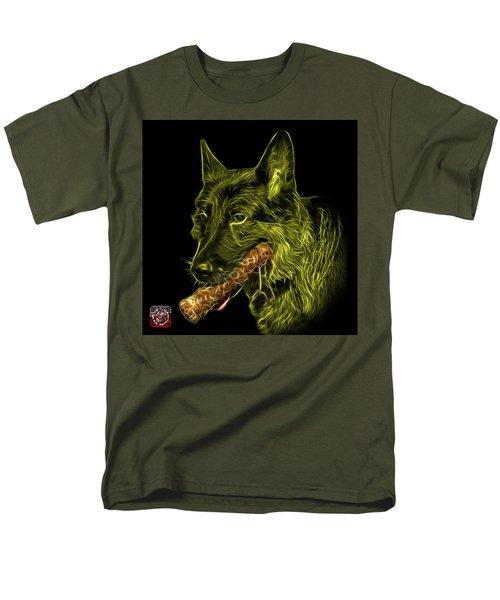 Yellow German Shepherd And Toy - 0745 F Men's T-Shirt  (Regular Fit) by James Ahn