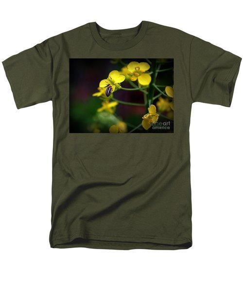 Men's T-Shirt  (Regular Fit) featuring the photograph Yellow Lightning by Lisa L Silva