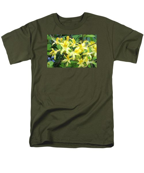 Men's T-Shirt  (Regular Fit) featuring the photograph Yellow Rhododendron by Carla Parris