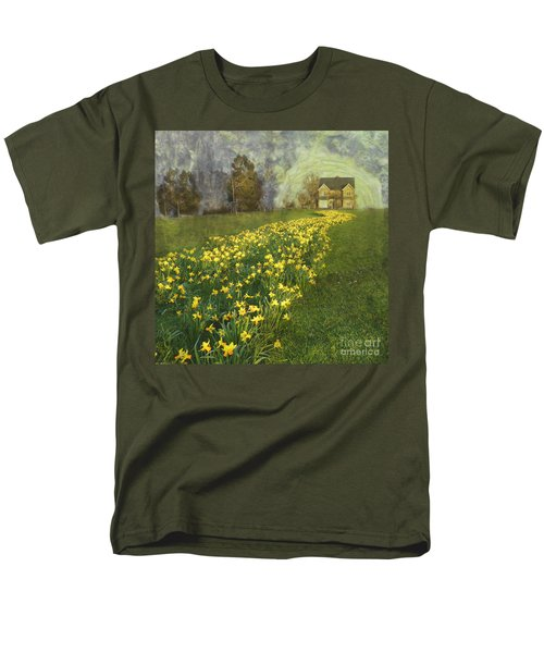 Yellow River To My Door Men's T-Shirt  (Regular Fit) by LemonArt Photography