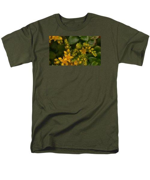 Yellow Sedum Men's T-Shirt  (Regular Fit) by Richard Brookes