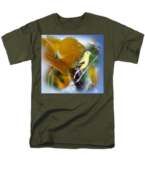 Yellow Spring Men's T-Shirt  (Regular Fit) by Cathy  Beharriell