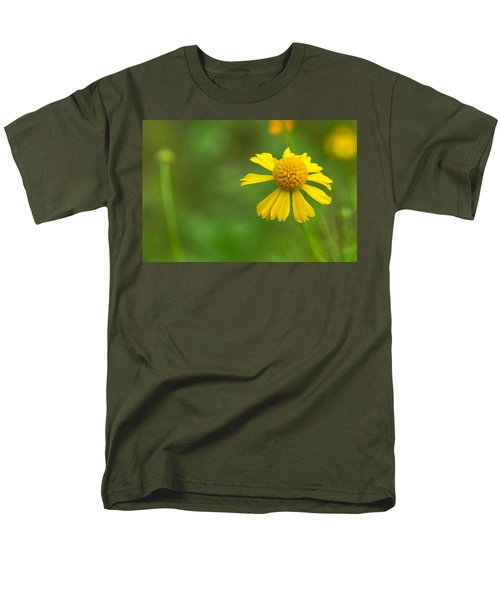 Yellow Wildflower Men's T-Shirt  (Regular Fit) by Christopher L Thomley