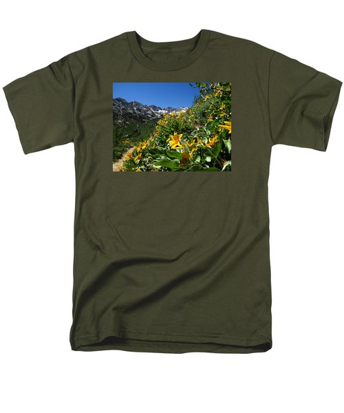 Yellow Wildflowers Men's T-Shirt  (Regular Fit) by Alan Socolik