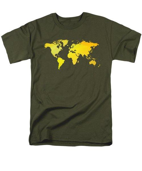 Yellow Worlmap Men's T-Shirt  (Regular Fit) by Alberto RuiZ