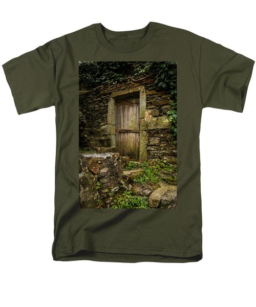 Yesterday's Garden Door Men's T-Shirt  (Regular Fit) by Kathleen Scanlan