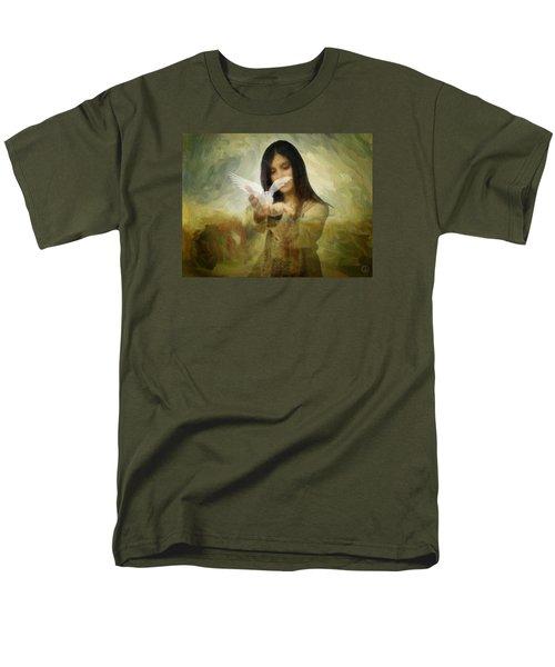 You Bird Of Freedom And Peace Men's T-Shirt  (Regular Fit) by Gun Legler