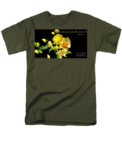 Men's T-Shirt  (Regular Fit) featuring the photograph You Have To Grow by Gena Weiser