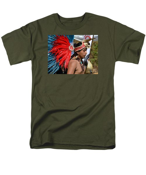 Young Aztec Portrait Men's T-Shirt  (Regular Fit) by Lew Davis