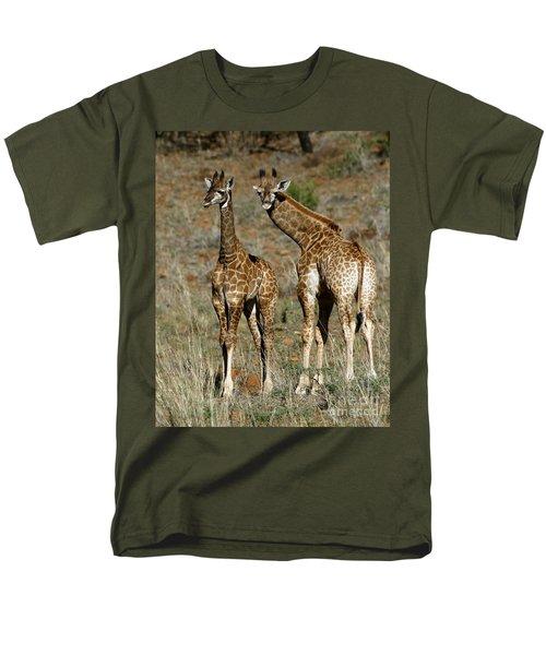 Men's T-Shirt  (Regular Fit) featuring the photograph Young Giraffes by Myrna Bradshaw