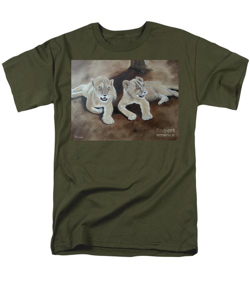 Young Lions Men's T-Shirt  (Regular Fit) by Bev Conover