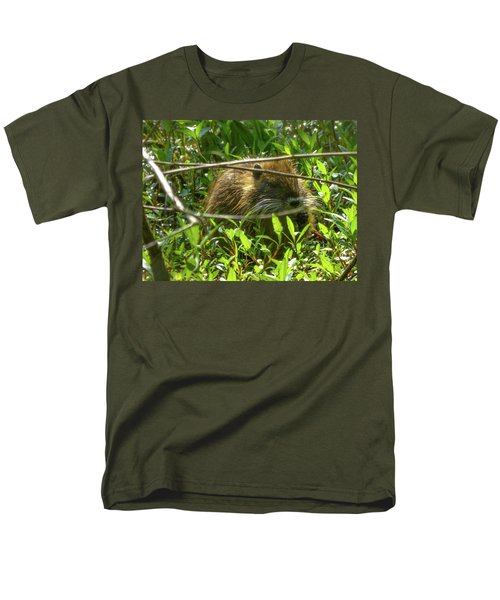 Young Nutria In Love Men's T-Shirt  (Regular Fit) by Kimo Fernandez