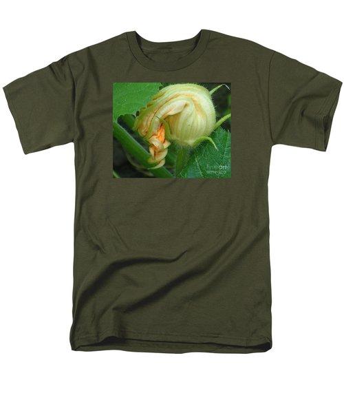Men's T-Shirt  (Regular Fit) featuring the photograph Young Pumpkin Blossom by Christina Verdgeline