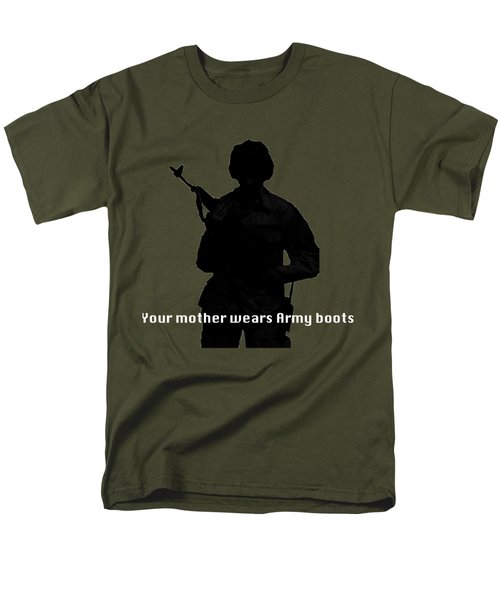 Men's T-Shirt  (Regular Fit) featuring the photograph Your Mother Wears Army Boots by Melany Sarafis