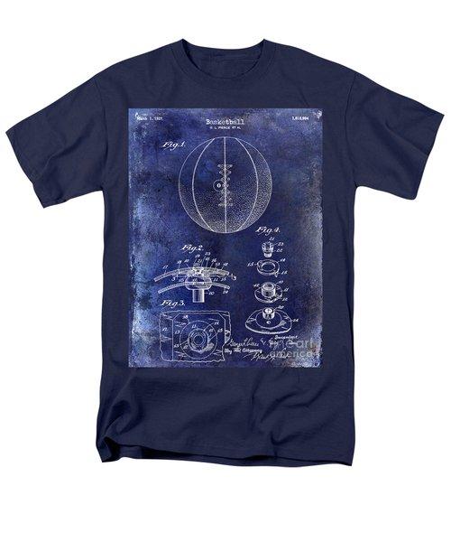 1927 Basketball Patent Drawing Blue Men's T-Shirt  (Regular Fit) by Jon Neidert