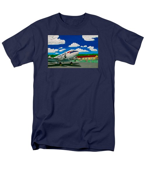 Portsmouth Ohio Airport And Lake Central Airlines Men's T-Shirt  (Regular Fit) by Frank Hunter