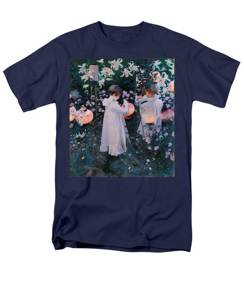 Carnation Lily Lily Rose Men's T-Shirt  (Regular Fit) by John Singer Sargent
