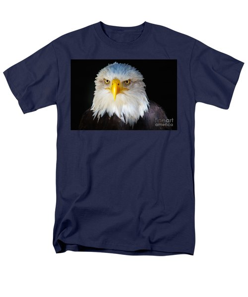 Men's T-Shirt  (Regular Fit) featuring the photograph Closeup Portrait Of An American Bald Eagle by Nick  Biemans