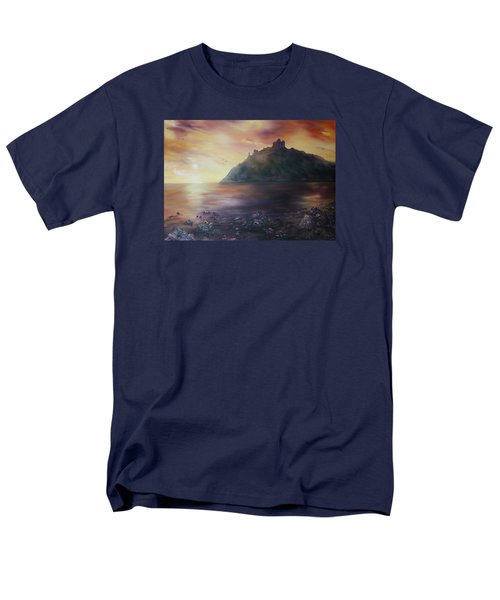 Men's T-Shirt  (Regular Fit) featuring the painting Criccieth Castle North Wales by Jean Walker