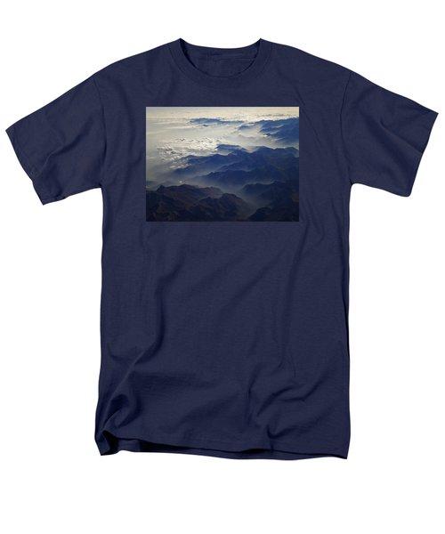 Flying Over The Alps In Europe Men's T-Shirt  (Regular Fit) by Colette V Hera  Guggenheim