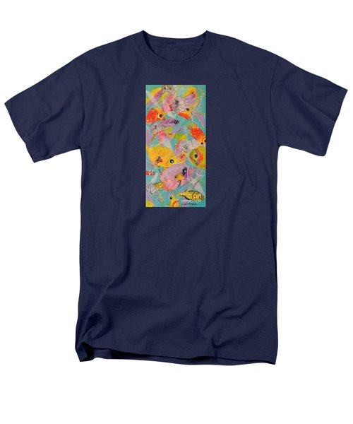Men's T-Shirt  (Regular Fit) featuring the painting Great Barrier Reef Fish by Lyn Olsen