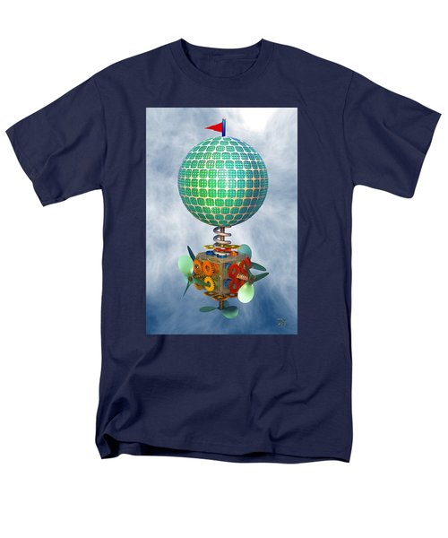 Men's T-Shirt  (Regular Fit) featuring the digital art Improbability by Manny Lorenzo