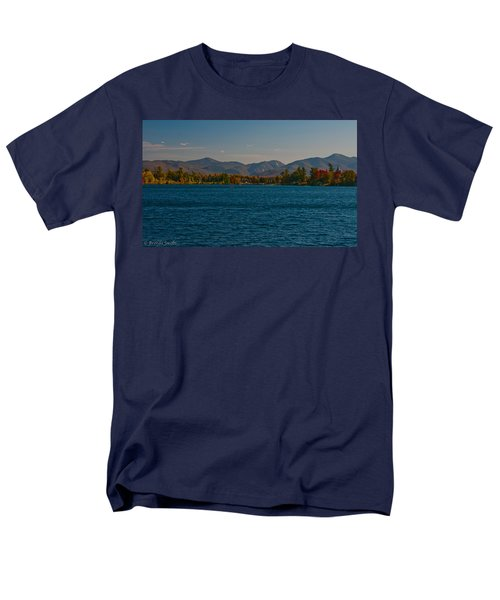 Lake Placid And The Adirondack Mountain Range Men's T-Shirt  (Regular Fit) by Brenda Jacobs