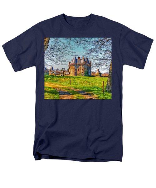 Men's T-Shirt  (Regular Fit) featuring the photograph Chateau De Landale by Elf Evans