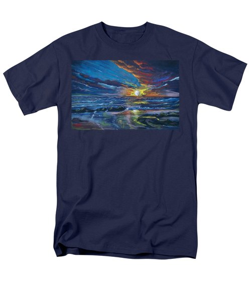 Men's T-Shirt  (Regular Fit) featuring the pastel Never Ending Sea by Peter Suhocke