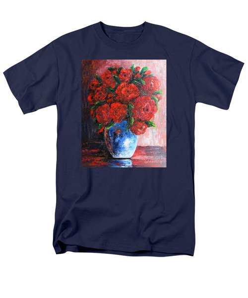 Men's T-Shirt  (Regular Fit) featuring the painting Red Scent by Vesna Martinjak