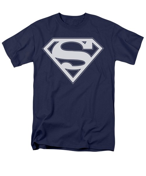 Superman - Navy And White Shield Men's T-Shirt  (Regular Fit) by Brand A