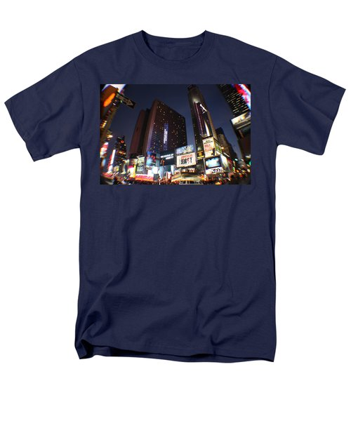 Men's T-Shirt  (Regular Fit) featuring the photograph Times Square Nyc by Rogerio Mariani
