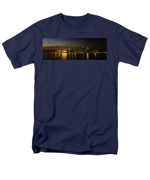 Toronto Evening Sky Line Panorama Men's T-Shirt  (Regular Fit) by Peter v Quenter