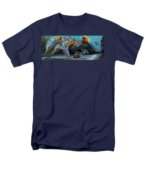 Men's T-Shirt  (Regular Fit) featuring the painting Underwater Beauty by Donna Tuten