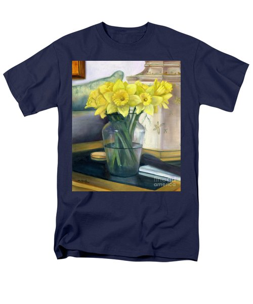 Yellow Daffodils Men's T-Shirt  (Regular Fit) by Marlene Book