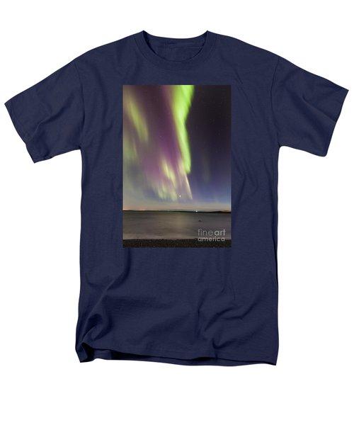 Northern Lights Iceland Men's T-Shirt  (Regular Fit) by Gunnar Orn Arnason