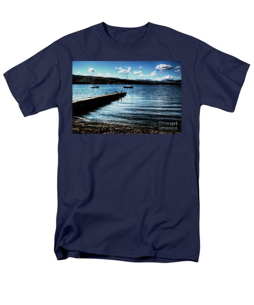 Men's T-Shirt  (Regular Fit) featuring the photograph Boats In Wales by Doc Braham